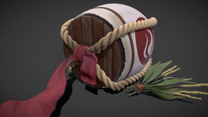 Drunk Fox Shaman's Barrel 3D Model