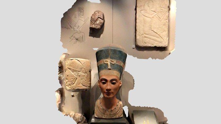 Queen Nefertiti Cast at NMS 3D Model