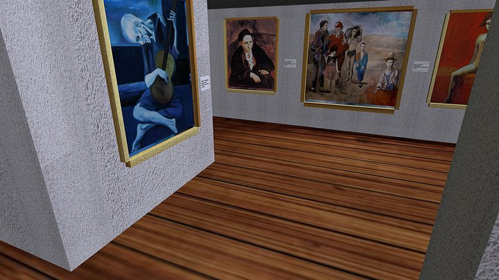 Small fictional exhibition of Picasso 3D Model