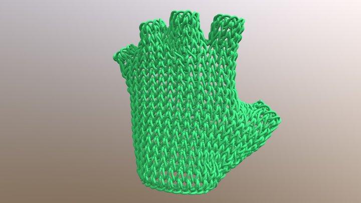 Small Knit Glove 3D Model