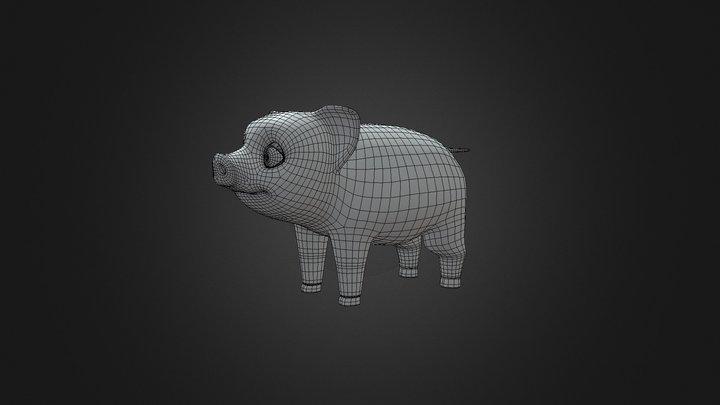 Fig the Pet Pig 3D Model