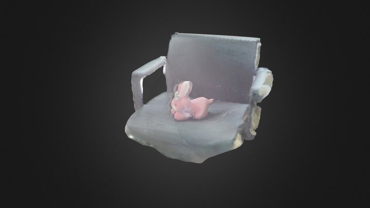 Rabbit with chair 3D Model