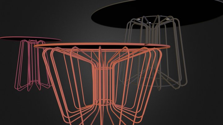 Wires tables 3D Model