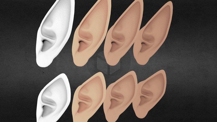 Elfen Ears 3D Model