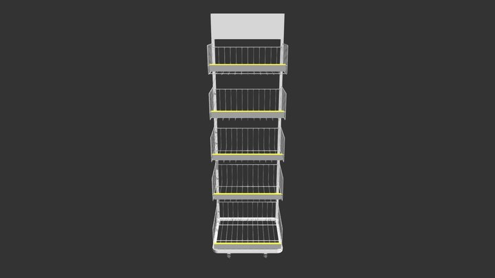 50CM BASKET RETAIL STAND 3D Model