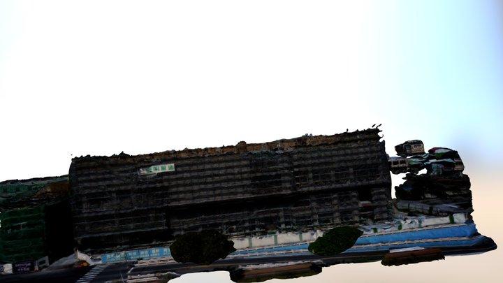 嘉義秀泰5f航拍DSM平面及東側掃描 3D Model