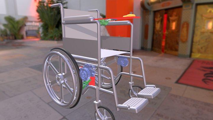 Electric Wheelchair mod 3D Model