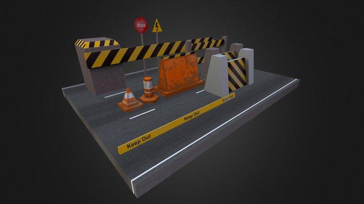 Road Props 3D Model