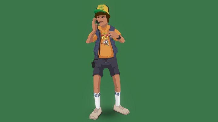 Stranger Things Dustin 3D Model
