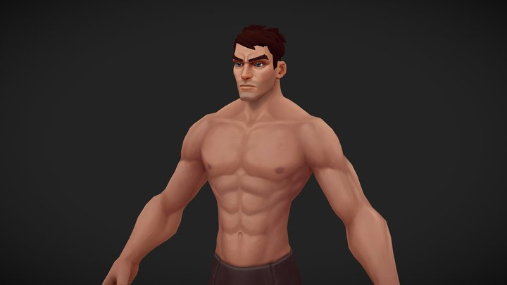 Stylized male character 3D Model