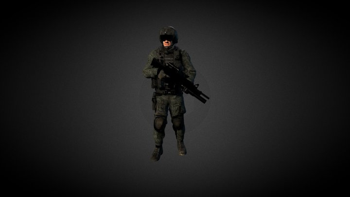 Soldier Animation 3D Model