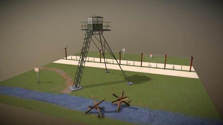 Czechoslovak border fortifications 3D Model