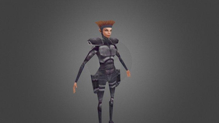 VGR xcom Female Textured 3D Model