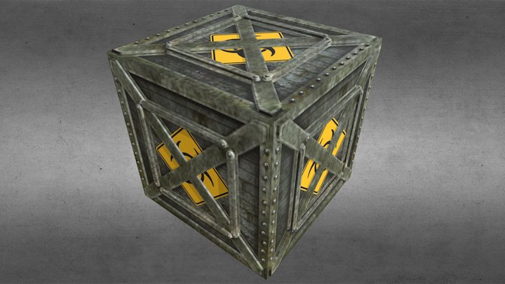 Metal Crate #1 3D Model