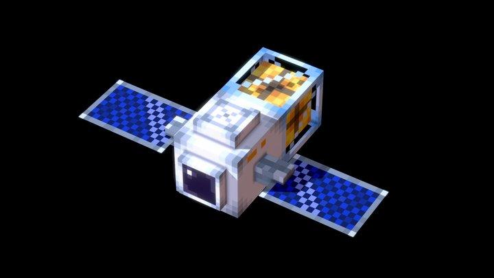 Cute Satellite 3D Model