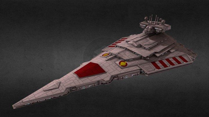 Republic Victor-class Star Destroyer 3D Model