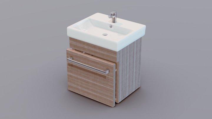 Wash Basin Stand 3D Model