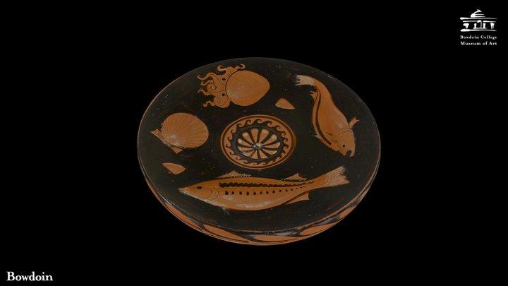 Apulian Fish Plate 3D Model