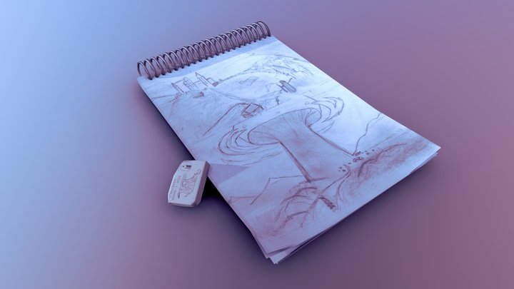 Day 4: Sketchbook [XYZ School DAILY CHALLENGE] 3D Model