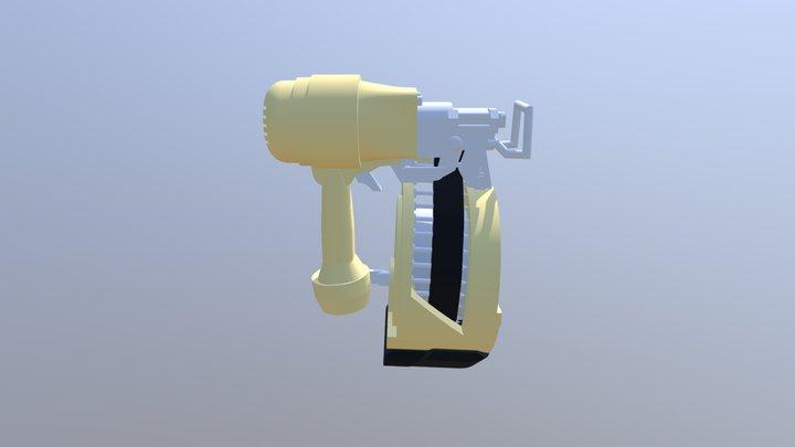 Low Poly NailGun Mk3 3D Model