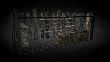 Shop of scrap materials 3D Model