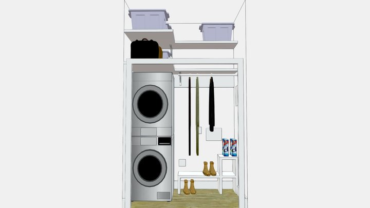 Laundry closet v1 3D Model