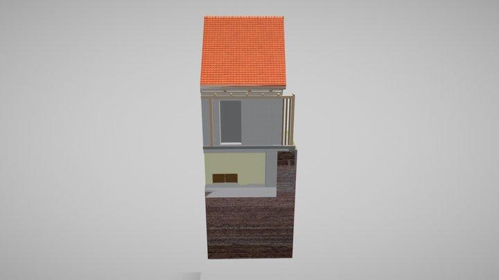 Cserkút_kisház_egyedi_lépcső 3D Model