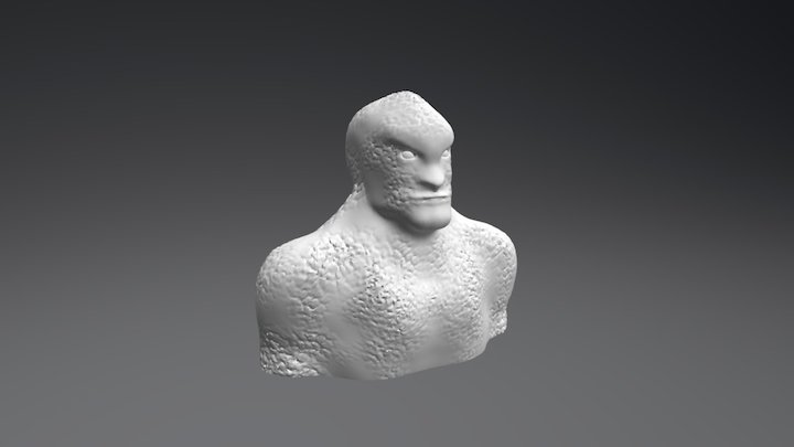Mutated Human/Lizard 3D Model