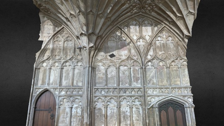 Part of the Cloister in Gloucester Cathedral 3D Model