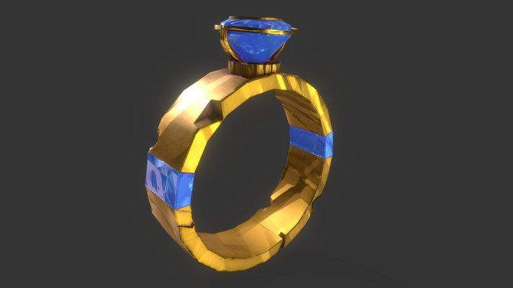 Stylised Damaged Ring 3D Model