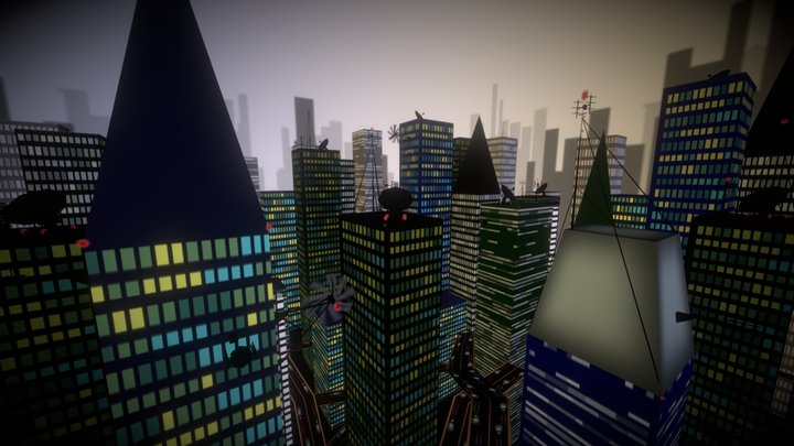 Skybox City for Quadrilateral Cowboy 3D Model