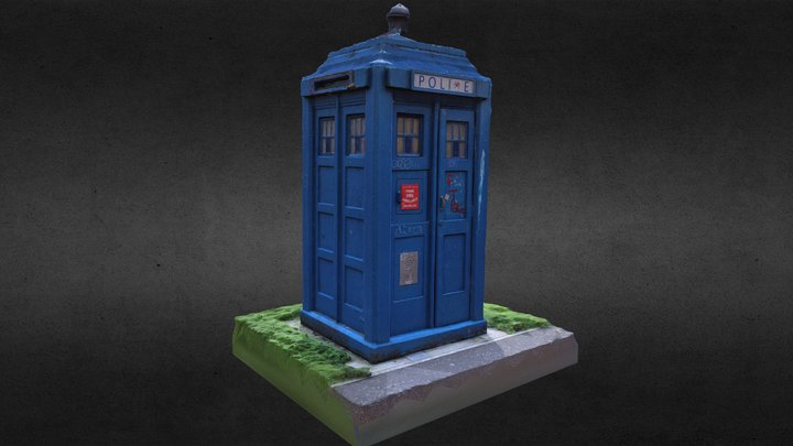 Police Box at Barrowlands Park 3D Model