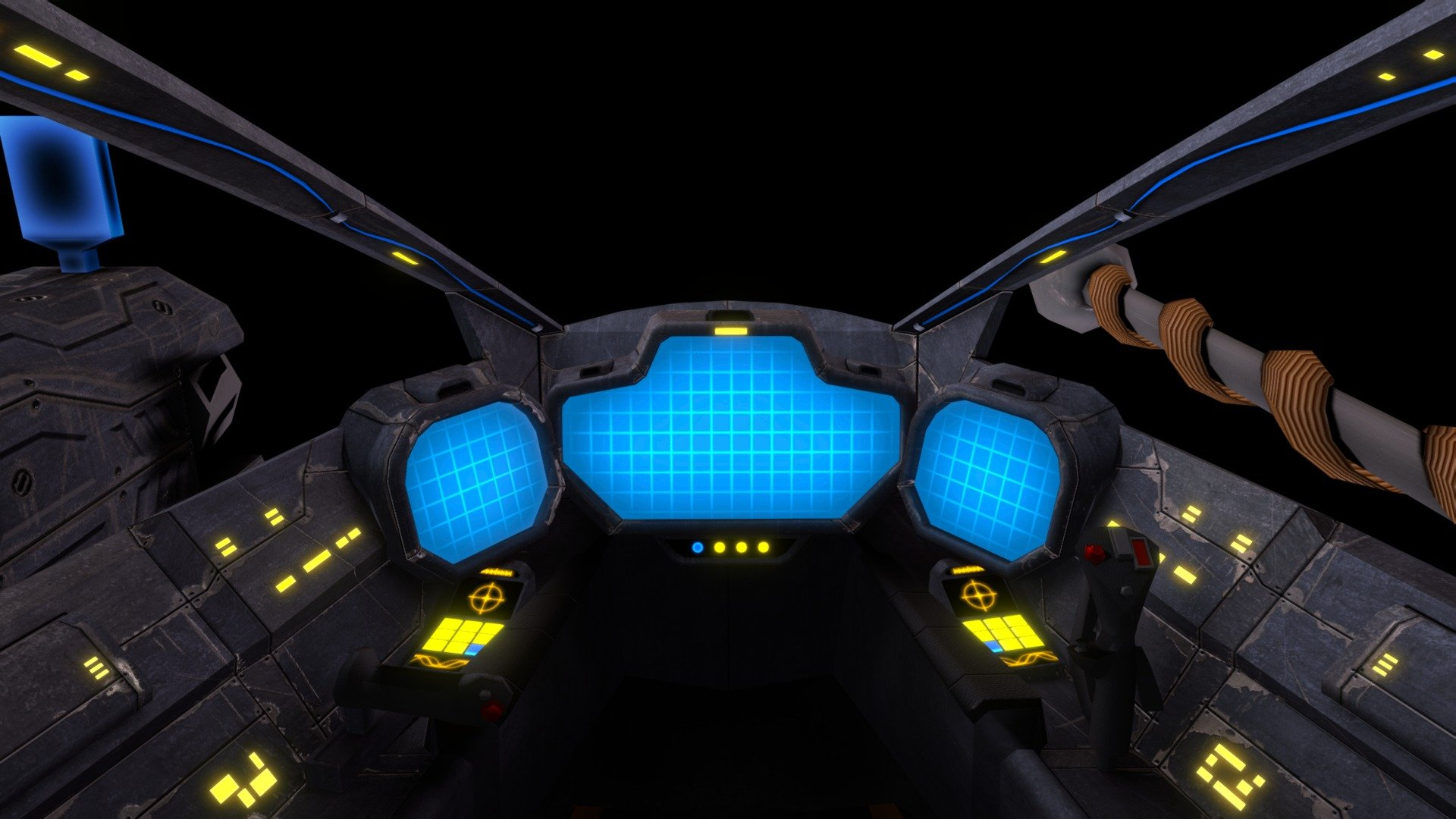 Spaceship Cockpit 3d Model By Mhoerter At Mhoerter