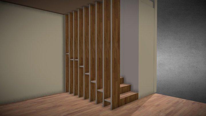 Laiptai lazdynai 3D Model