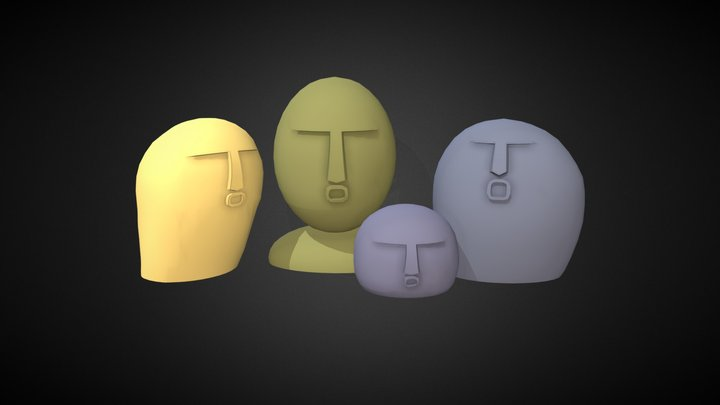 Ooof Stones 3D Model