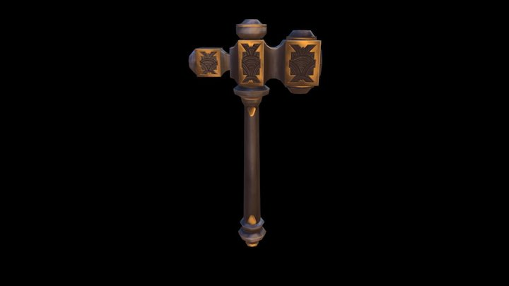 Practice - Hand Painted Hammer 3D Model