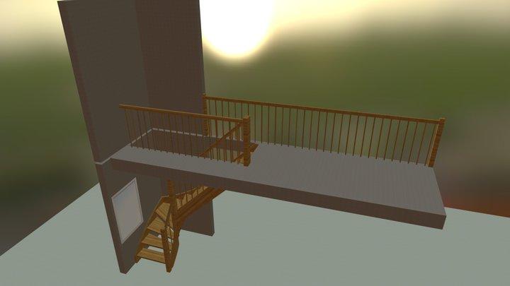 Wojciechowski schody DREWNIANE 3D Model