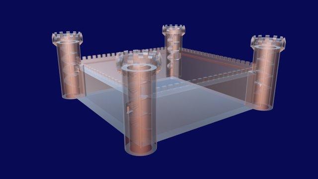 Castles of Europe - 3DS Max Tutorial 3 3D Model