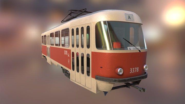 Czech tram Tatra T3 3D Model