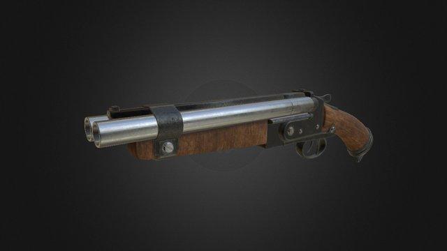 Shotgun PBR 3D Model