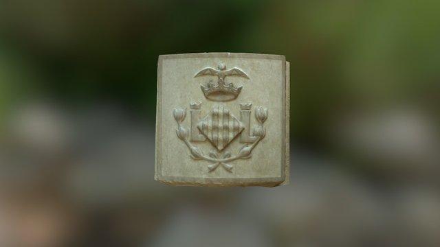 Escudo de Valencia en relieve 3D Model