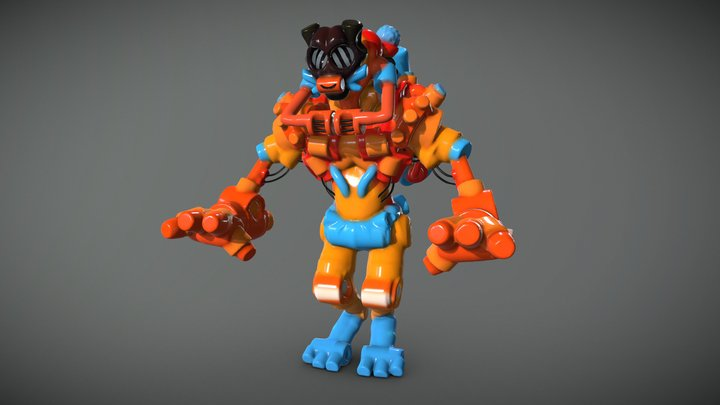 Collab Bot with Steve Talkowski in MasterpieceVR 3D Model