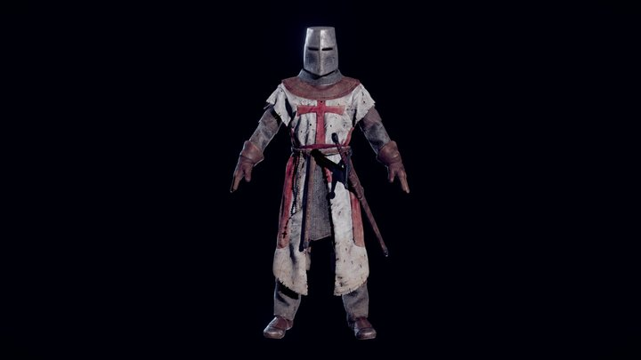Crusader Knight 3D Model