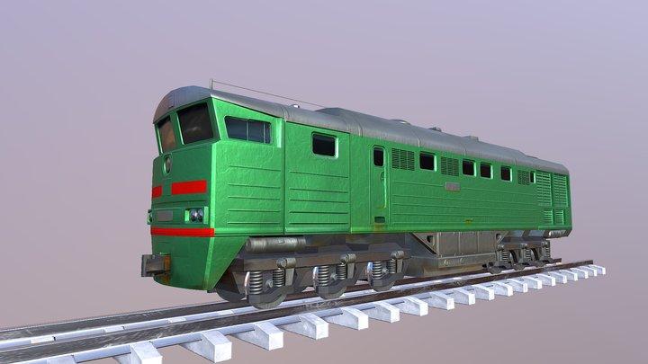 Locomotive 2TE116 3D Model