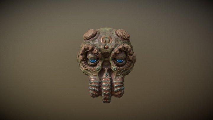 Cthulhu Head Doodle 3D Model