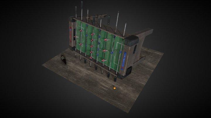 Gang football table 3D Model