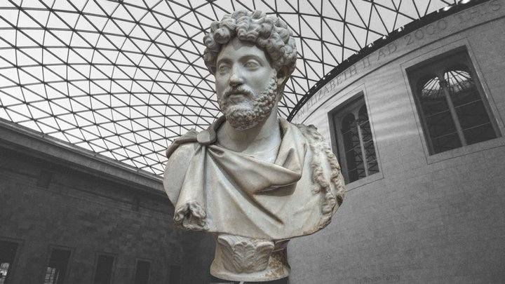 MARCUS AURELIUS - BRITISH MUSEUM 3D Model