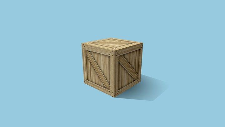 Caixa de madeira (estudo de UV) 3D Model