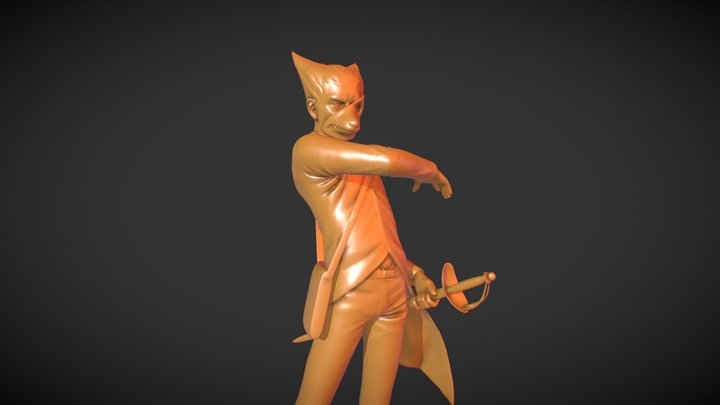 "BC2-1803 ""John Dunne"" Character (WIP) 3D Model"