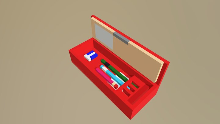 Pencil Case 3D Model